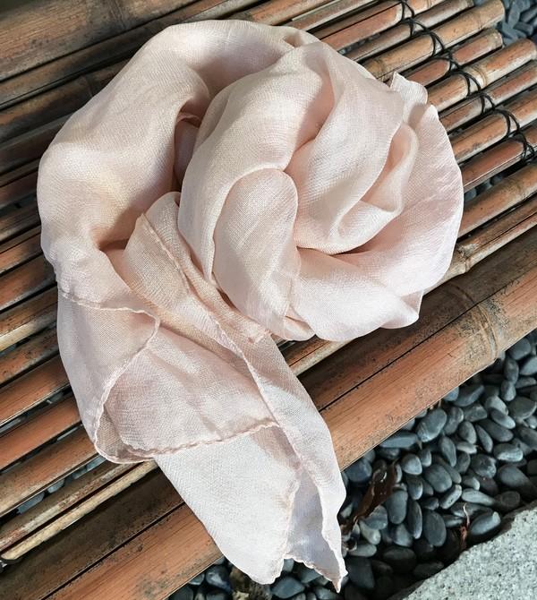 3/20,21 桜の枝でスカーフ&帯揚げを染めましょう
