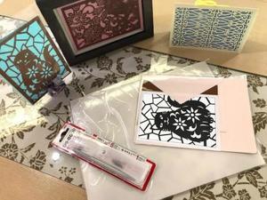 型彫カードキット6 ペルシャネコ