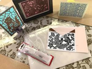型彫カードキット7 花鳥