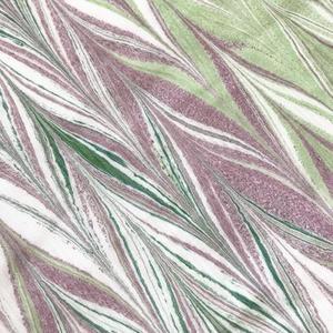 染の高考浴衣生地 墨流し染(緑×紫)