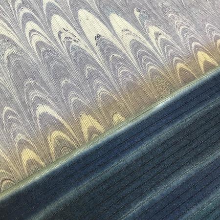 染の高考浴衣生地 墨流し染(紫)