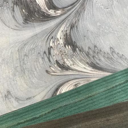 染の高考浴衣生地 墨流し染(うす青灰)