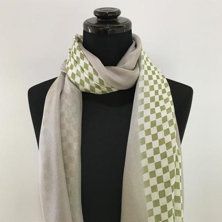 2カラースカーフ 市松 正絹