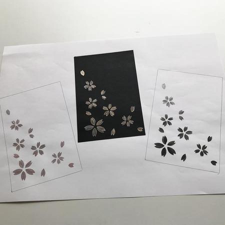 型彫ハガキキット【桜】