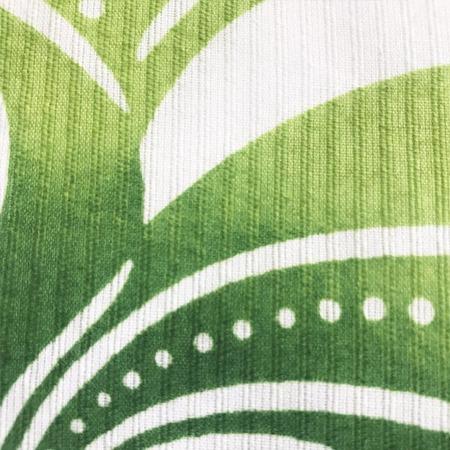 二葉苑浴衣 型染め 流水水玉(黄緑)