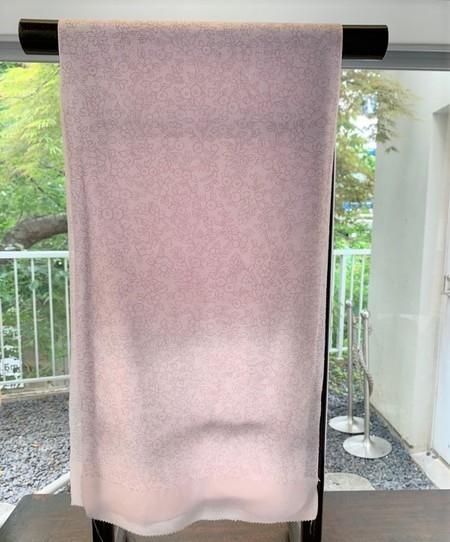 夏の帯揚げ 糸目ピンク